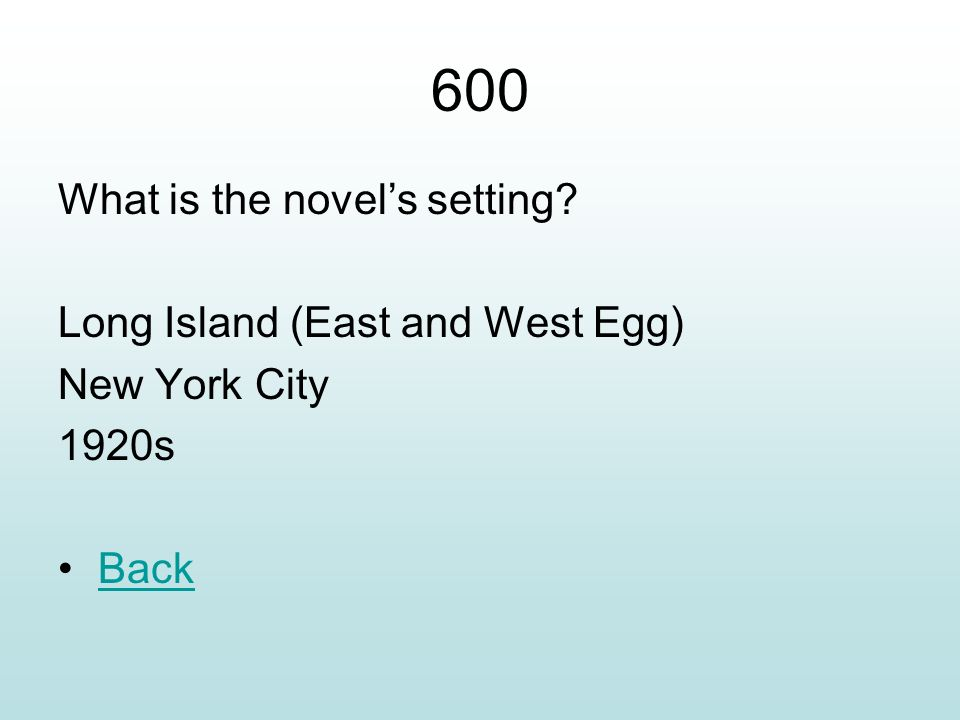 west egg long island