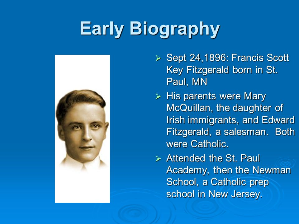 The Early Life of F. Scott Fitzgerald