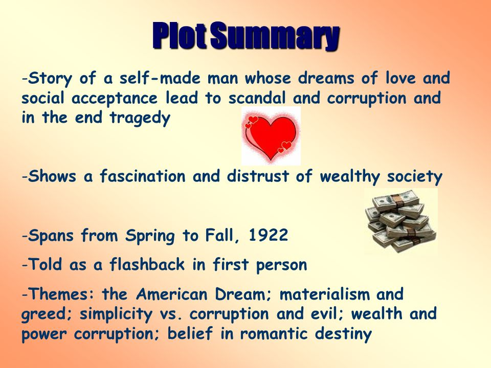 The great gatsby and the fall of the american dream.