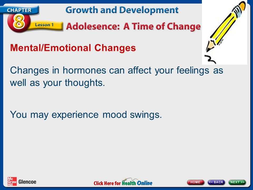 Mental/Emotional Changes