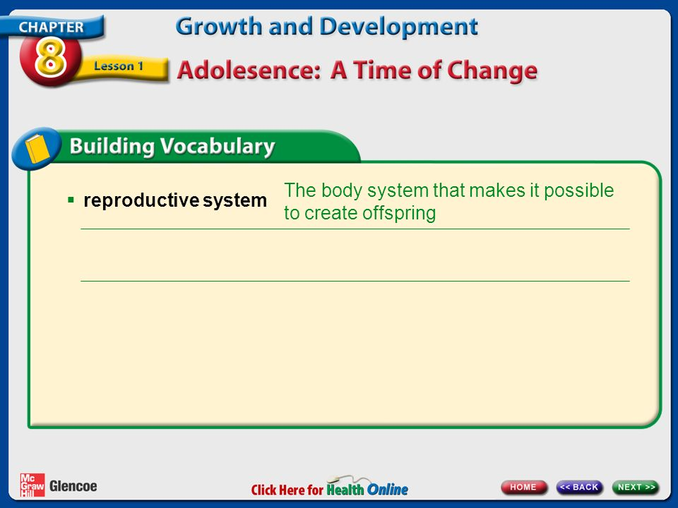 The body system that makes it possible to create offspring