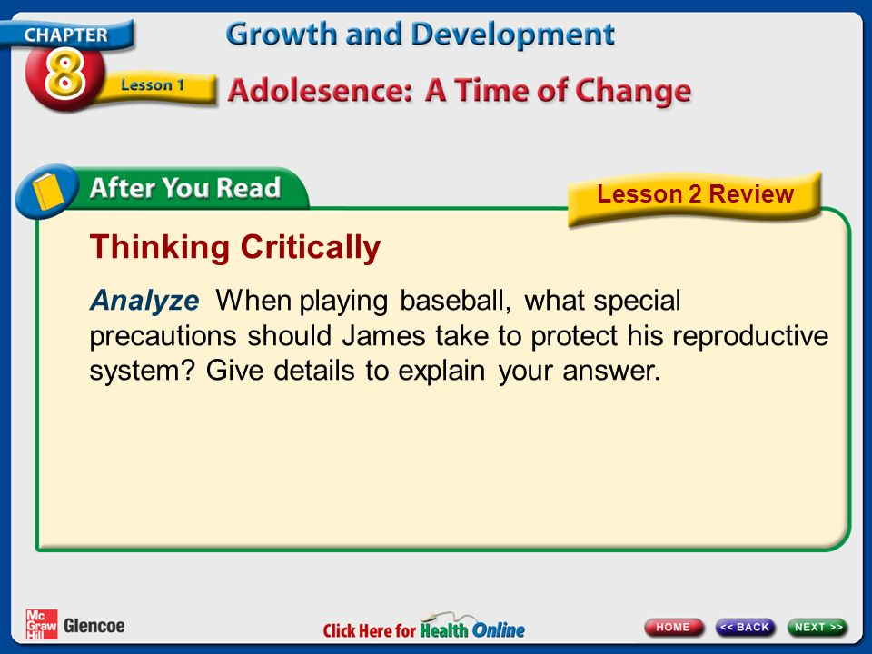 Lesson 2 Review Thinking Critically.