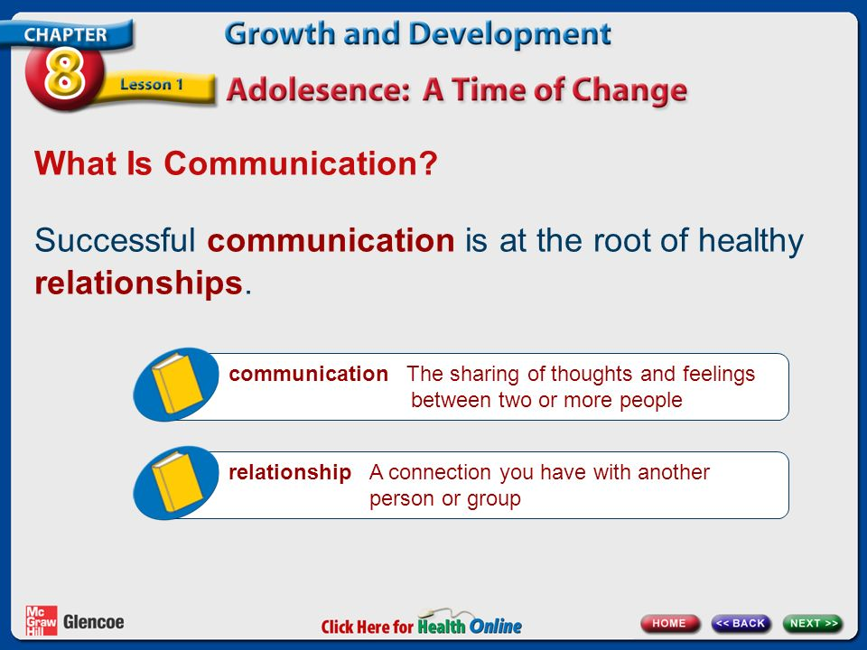 Successful communication is at the root of healthy relationships.