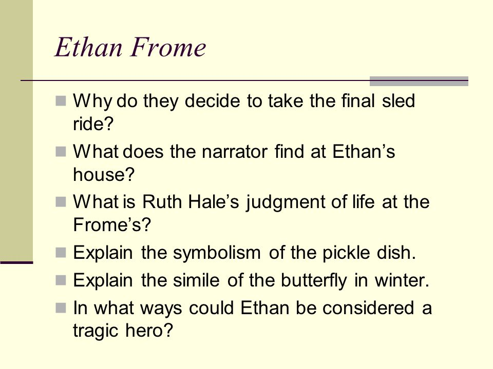 Essays ethan frome tragic hero