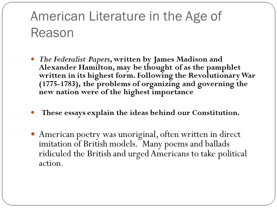 the age of reason and revolution essay The period of enlightenment refers to the european culture of the 18th century   dignity and intelligence was the philosophical father of the french revolution.