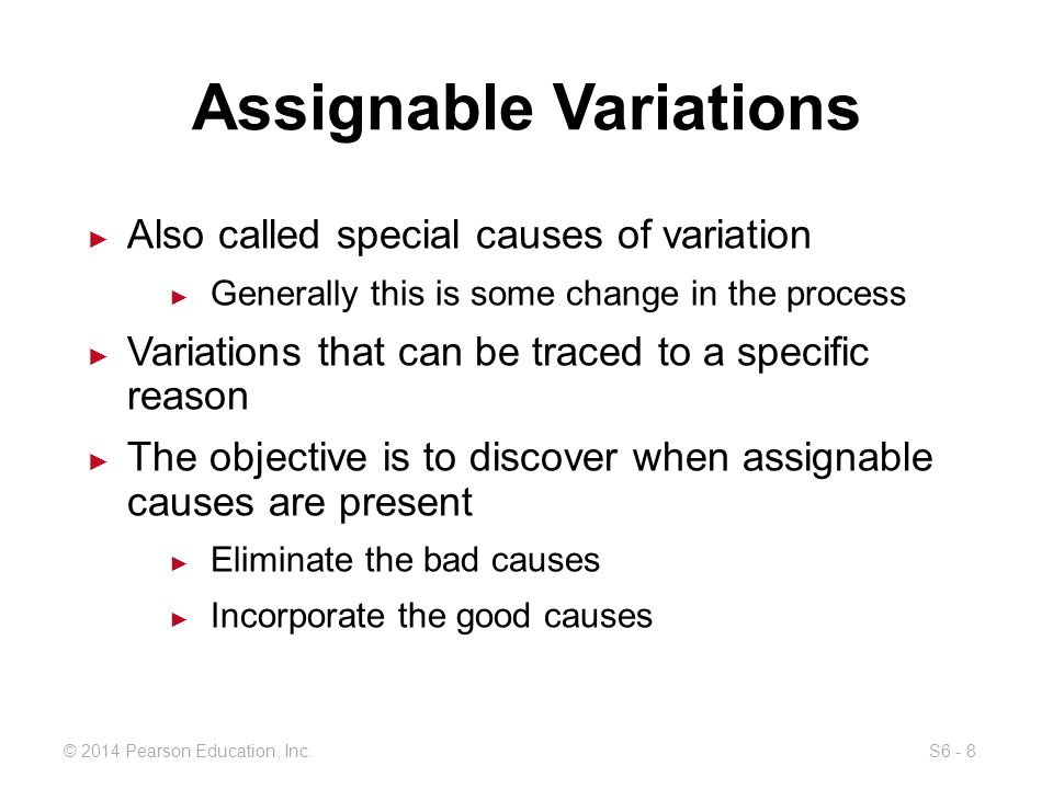 assignable variation