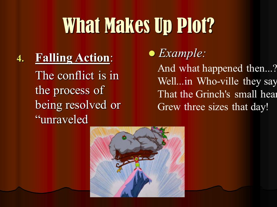 What Makes Up Plot Example: Falling Action: