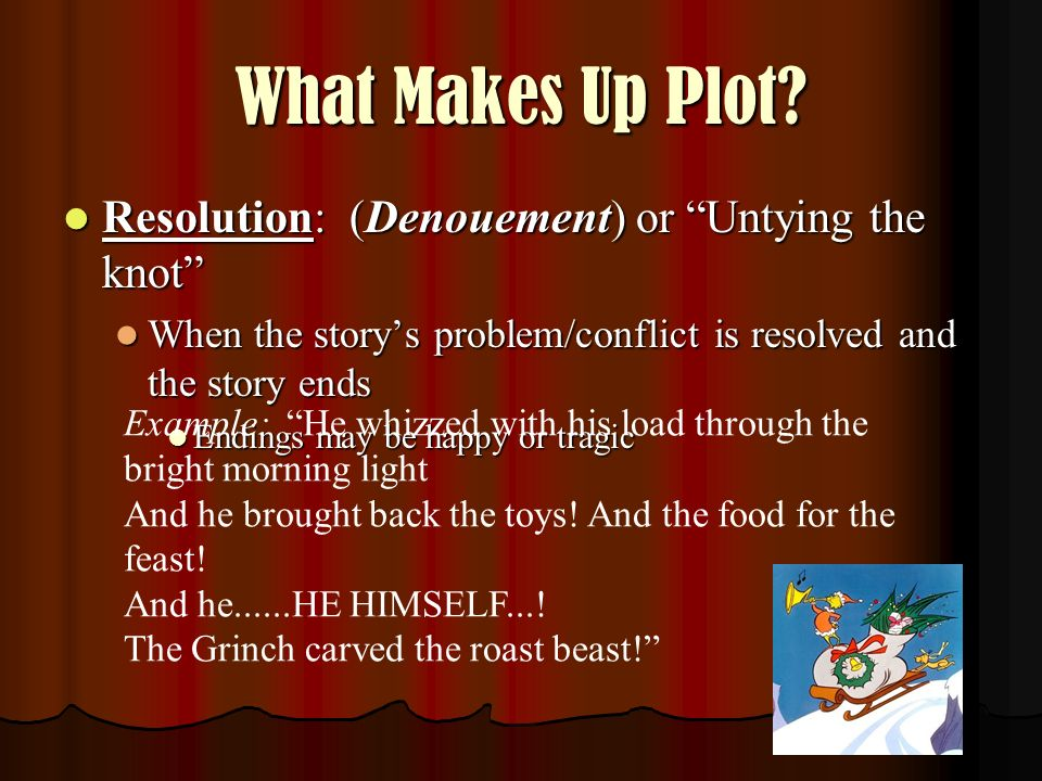 What Makes Up Plot Resolution: (Denouement) or Untying the knot