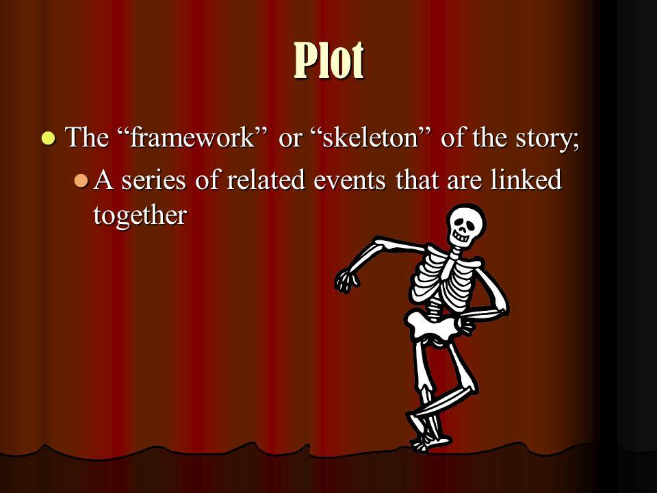 Plot The framework or skeleton of the story;