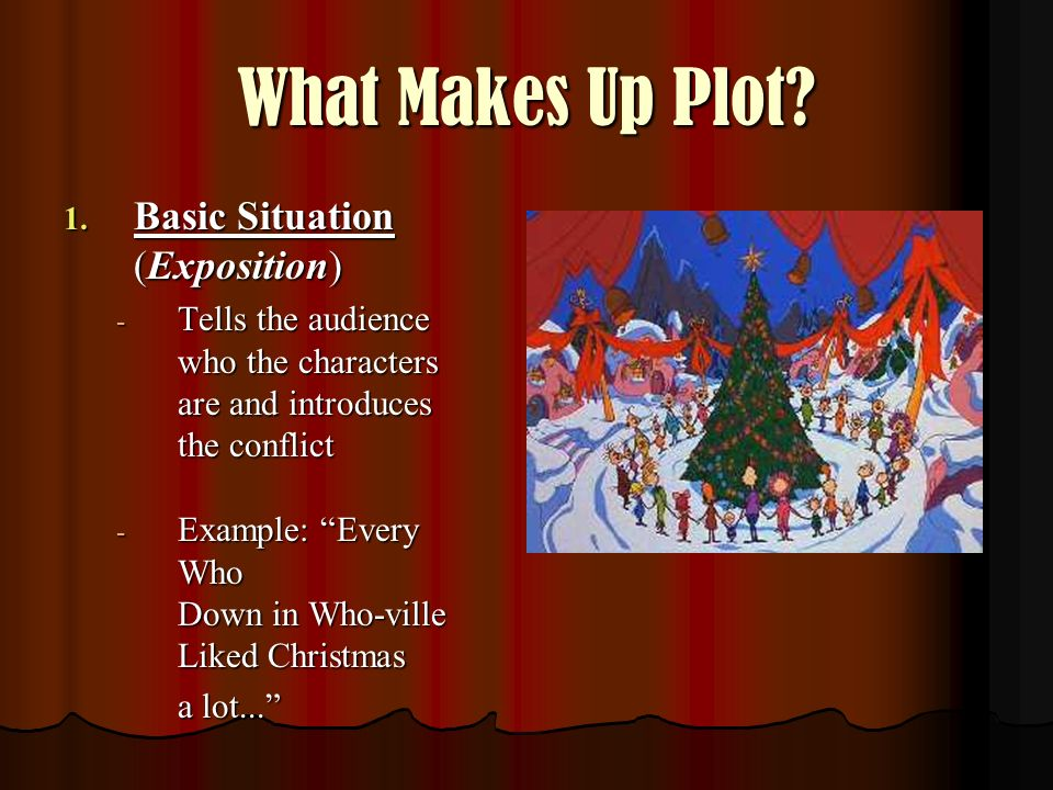 What Makes Up Plot Basic Situation (Exposition)