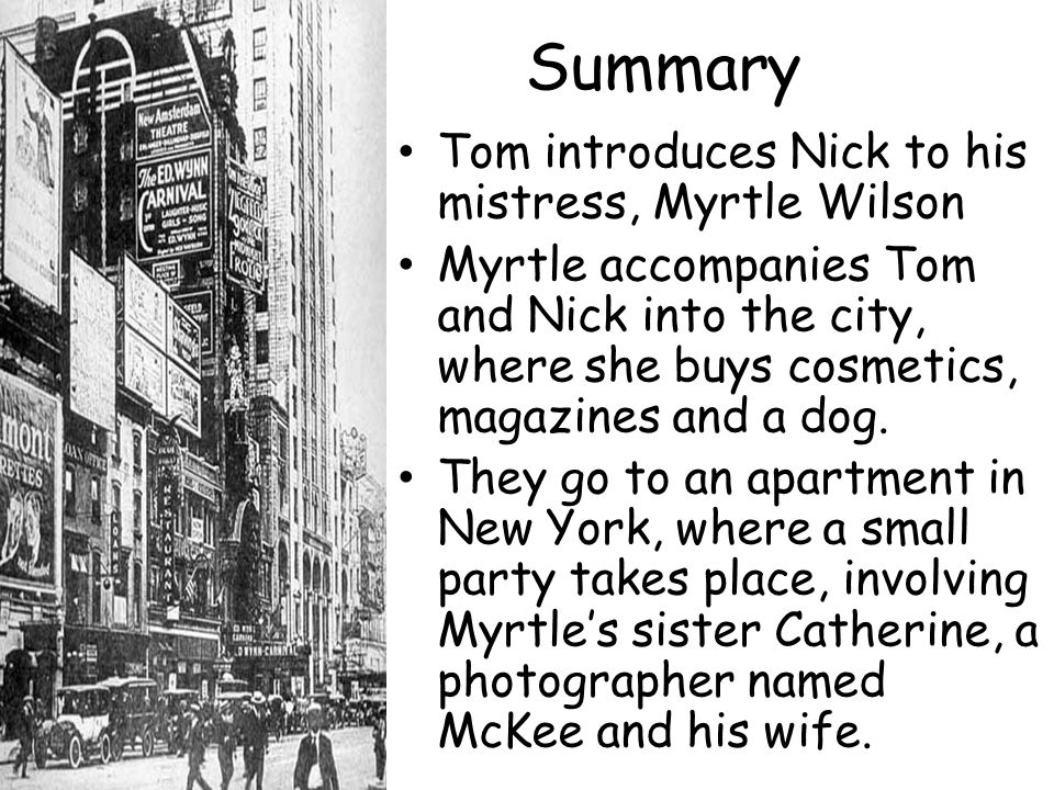great gatsby chapter summary Chapter summary for f scott fitzgerald's the great gatsby, chapter 1 summary find a summary of this and each chapter of the great gatsby.