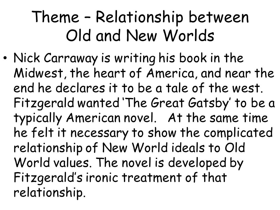 the theme of social classes in the great gatsby by f scott fitzgerald Series of times articles, and related lesson plans, on issues of social class in the united states  the times's obituary on f scott fitzgerald (1940) gatsby, 35.