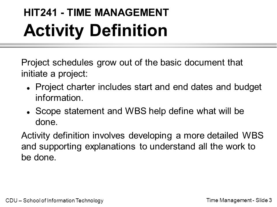 Time management introduction only