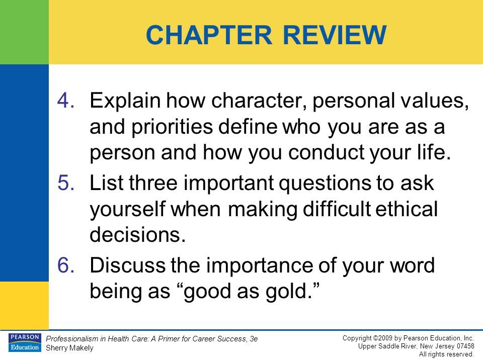 the importance of character in becoming a good person Our children's character—the kind of person they are becoming—is much more  important to leading a good and fulfilling lifeour focus as.
