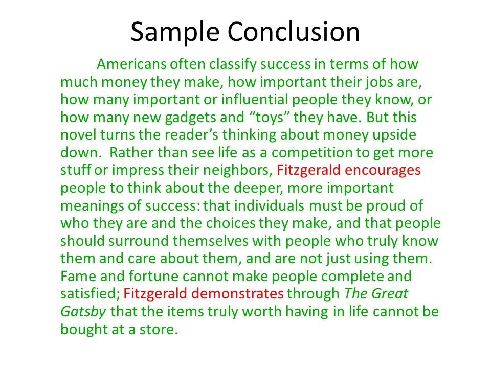 9 sample conclusion - Example Of A Conclusion For An Essay