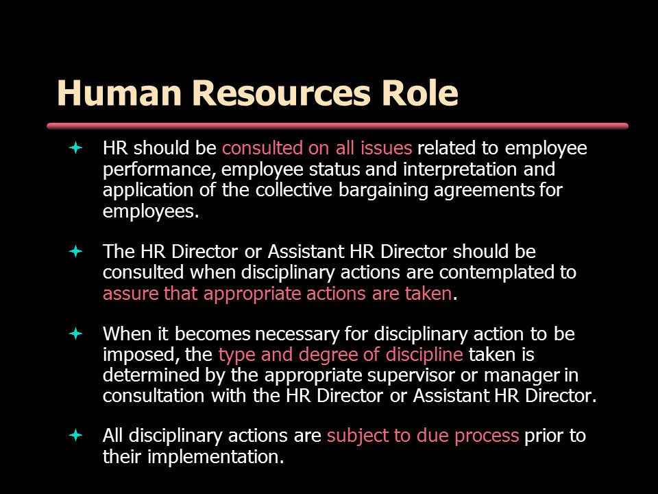 Office Of Human Resources Conducting Effective Employee