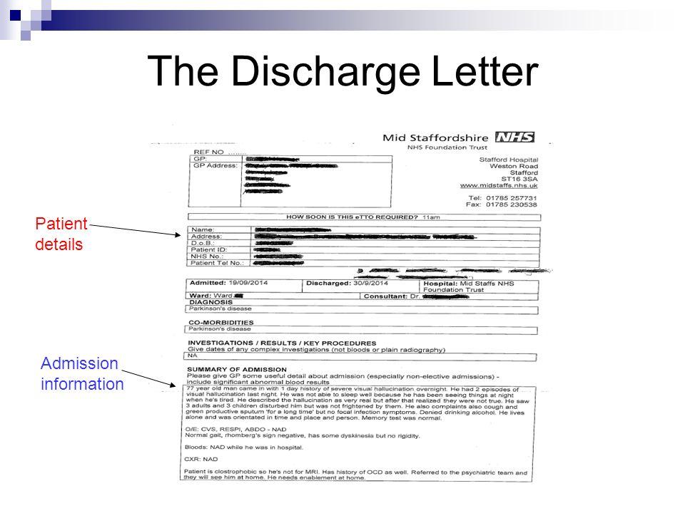 patient discharge letters