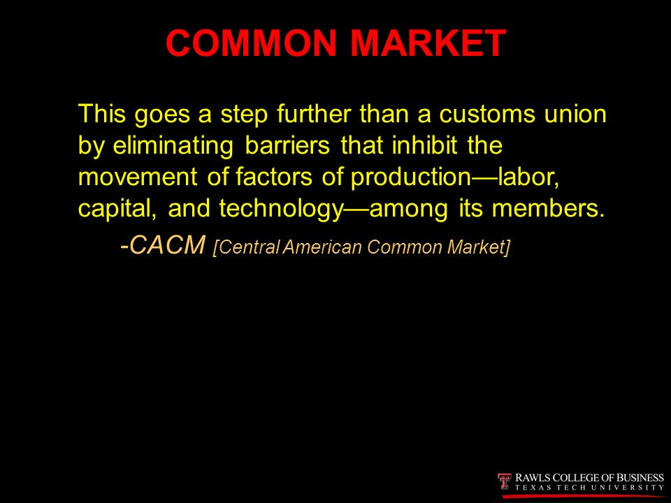 central american common market To analyse the economic integration processes (central american common market, free trade zone in central america, and the customs union) and international trade among the member states of the central american integration system (sica.
