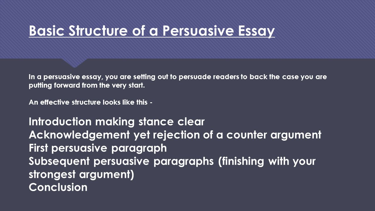 higher english persuasive essay structure Higher english discursive essay marking the skills can also be applied to higher english persuasive essay writing the structure of your essay and.