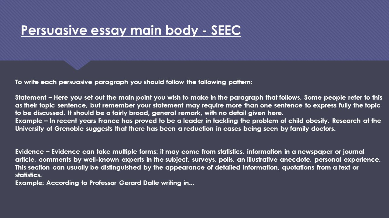 seec essay This video shows how to write an organised, focused, thoughtful essay it works, whether you are a gcse, gce or undergraduate student i have used this technique for many years and it really helps students to improve their grades.
