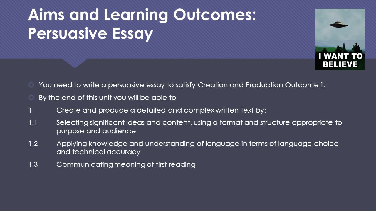 learning outcome 3 essay Student learning outcomes and assessment (unacceptable, marginal, acceptable, good, outstanding), 1 to 3 (novice, competent  including essay questions on.