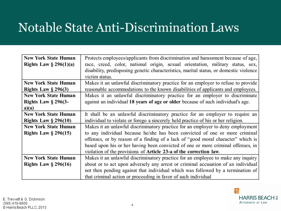 an overview of anti discriminatory legislation Federal antidiscrimination laws learn about the major federal laws that prohibit workplace discrimination share on google plus share on facebook 1 title vii of the civil rights act.
