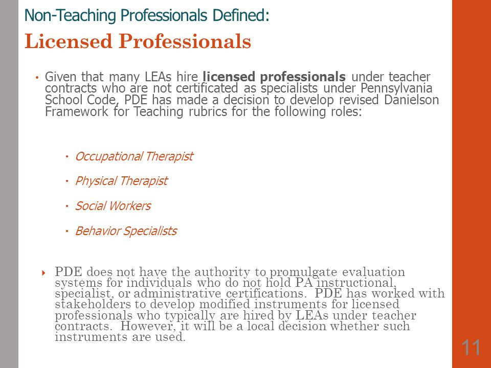 11 Non-Teaching Professionals ...