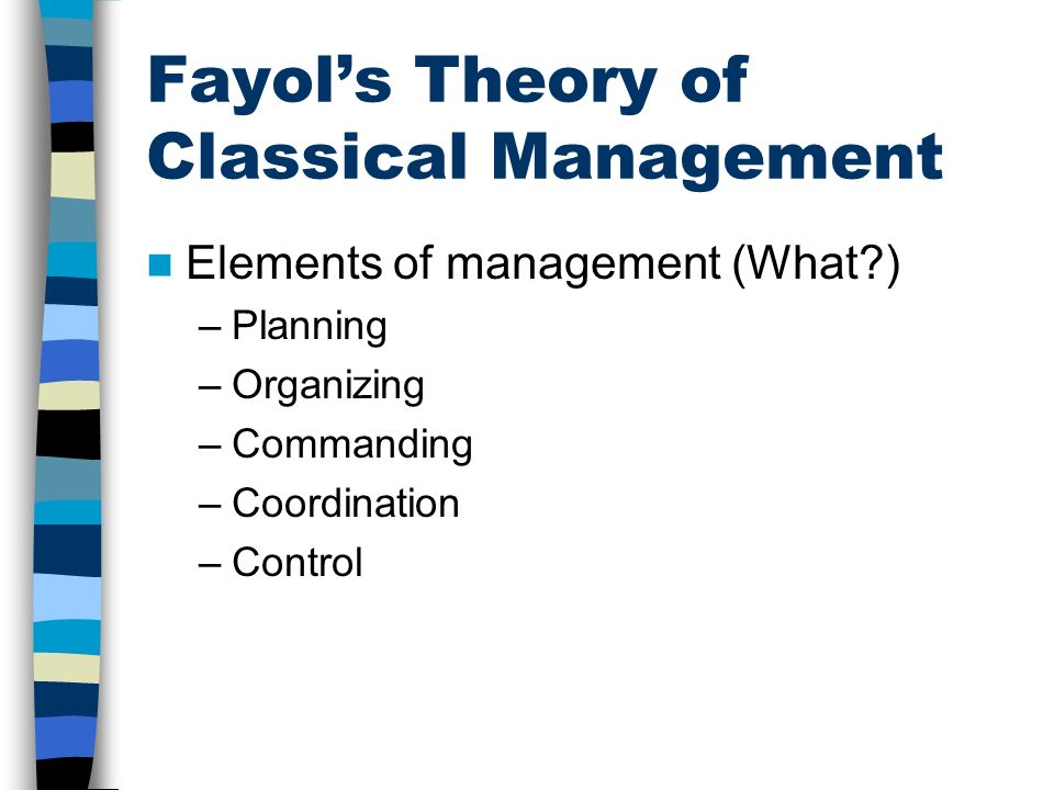 Fayol's Theory of Classical Management