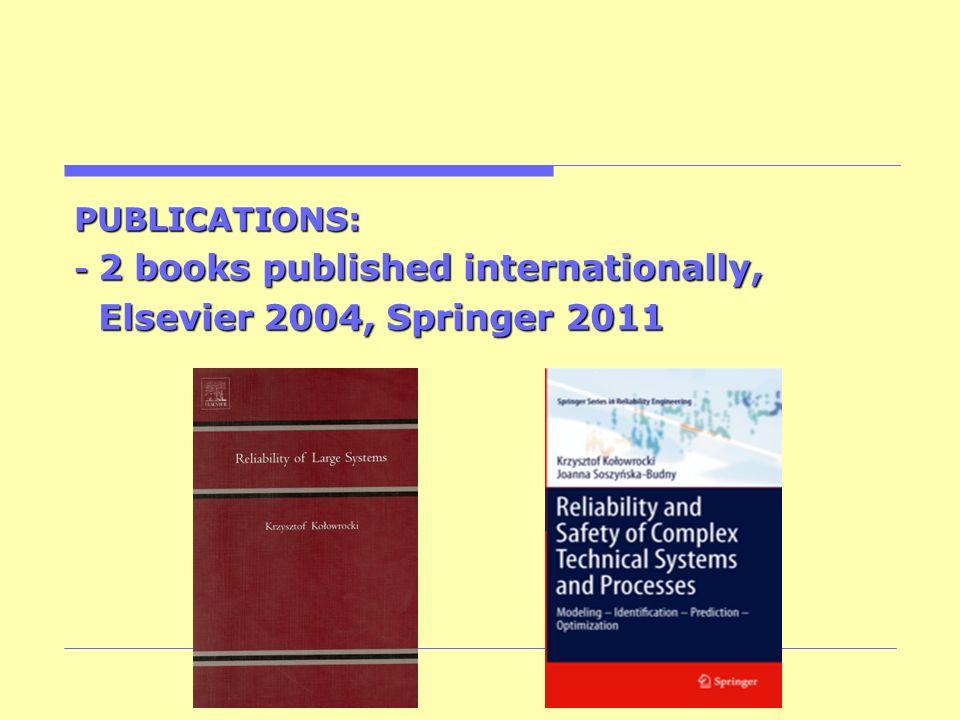 Elsevier 2004, Springer 2011 PUBLICATIONS:
