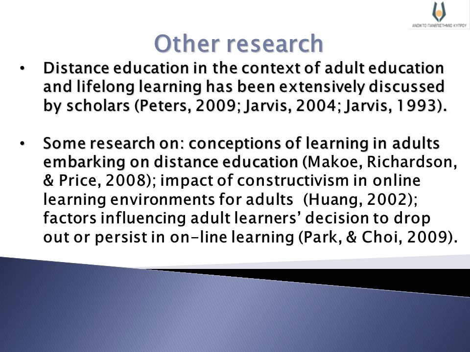 factors influencing curren adult learners This research is part of a larger study of the factors affecting part-time adult  learners it covers a literature review dealing with three areas of factors tha.