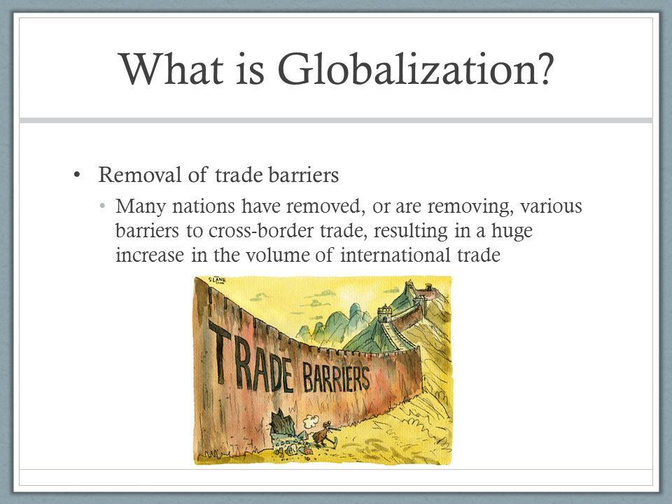 Barriers of globalisation