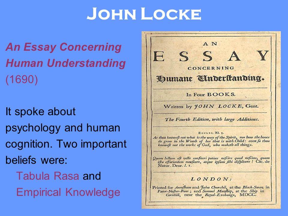 locke an essay concerning human understanding date