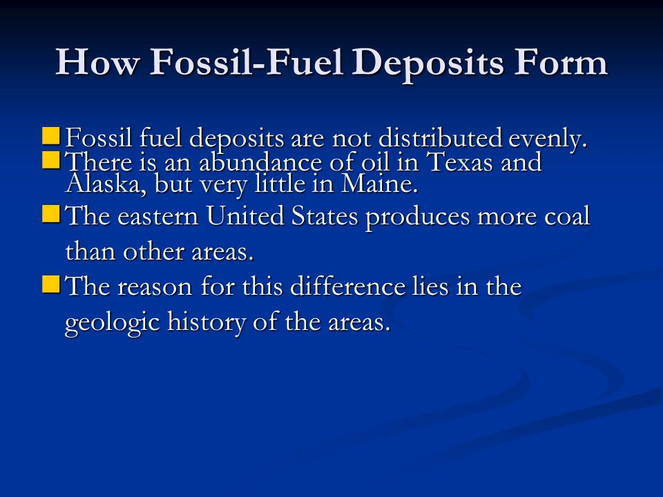 How Fossil-Fuel Deposits Form