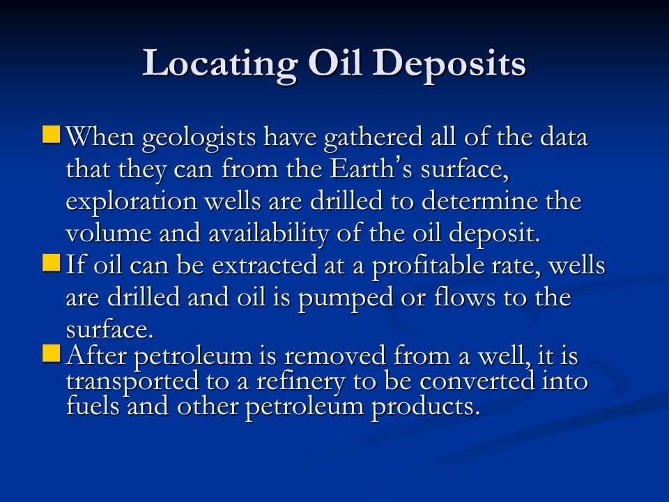 Locating Oil Deposits
