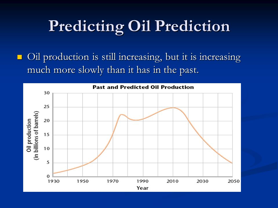 Predicting Oil Prediction