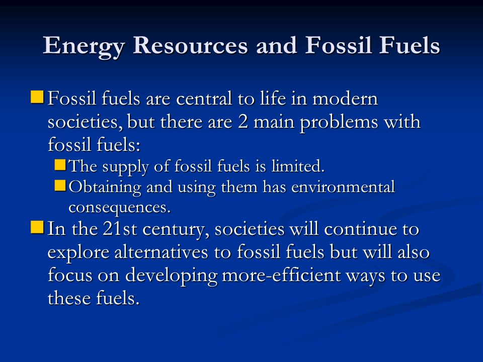 Fossil Fuels | Student Energy