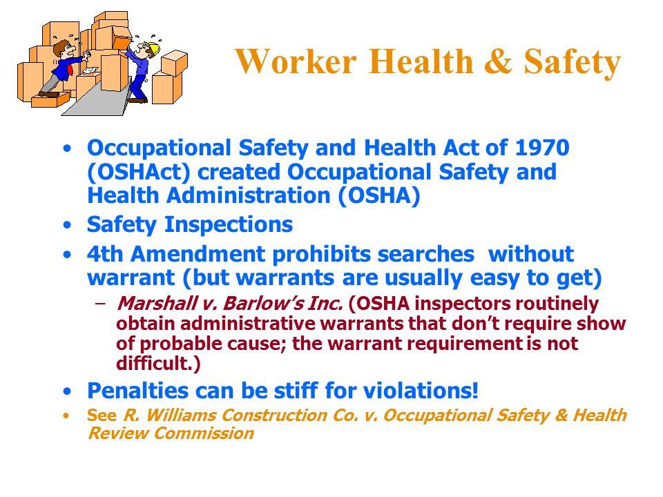 occupational safety and health act essay Occupational health and safety essay  who signed the occupational safety and health act which established a nationwide enforcement-oriented health and safety .