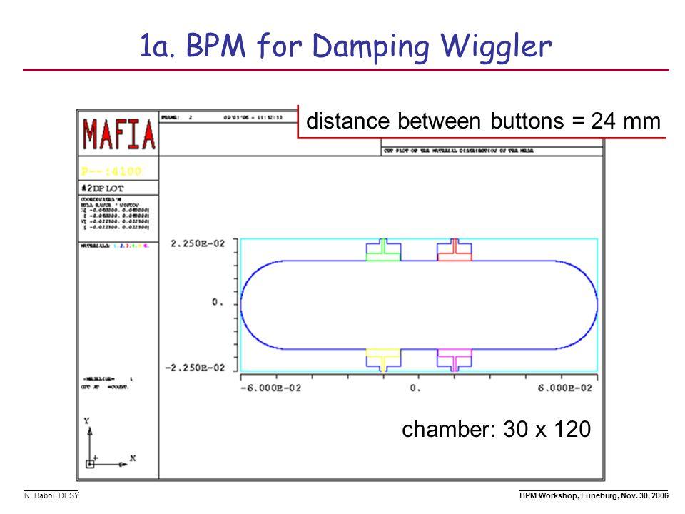 1a. BPM for Damping Wiggler
