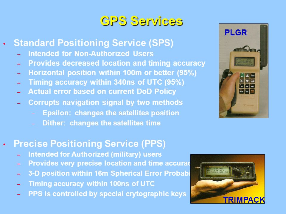 an overview of the standard positioning service and the precise positioning service Positioning method and service)a general description of their temporal/spatial behaviour, deterministic and stochastic characteristics and their impact on the positioning is provided section 2 gives an outline of the positioning methods used in sbas and rtk.