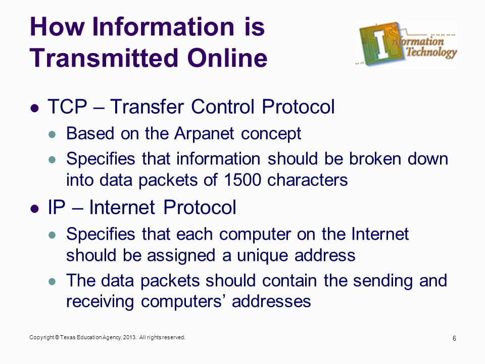 How Information is Transmitted Online