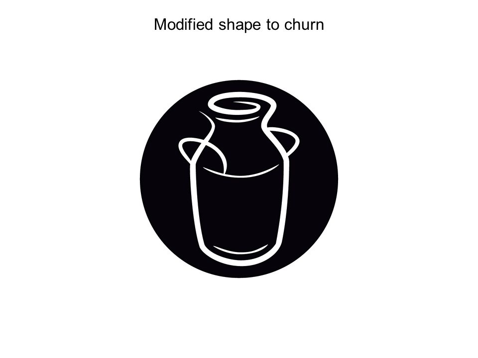 Modified shape to churn