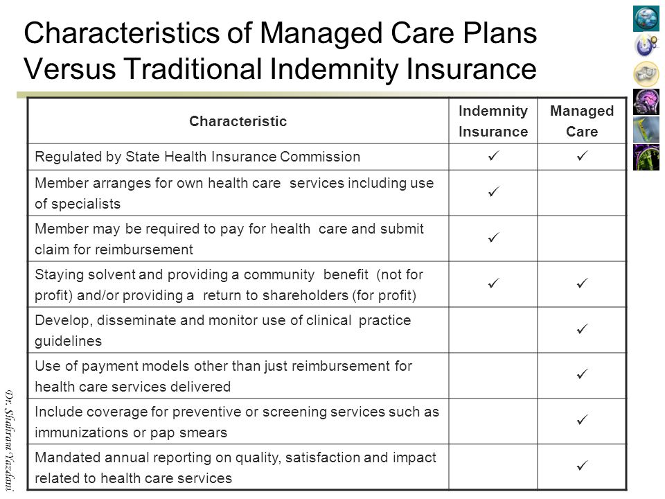 managed care vs traditional
