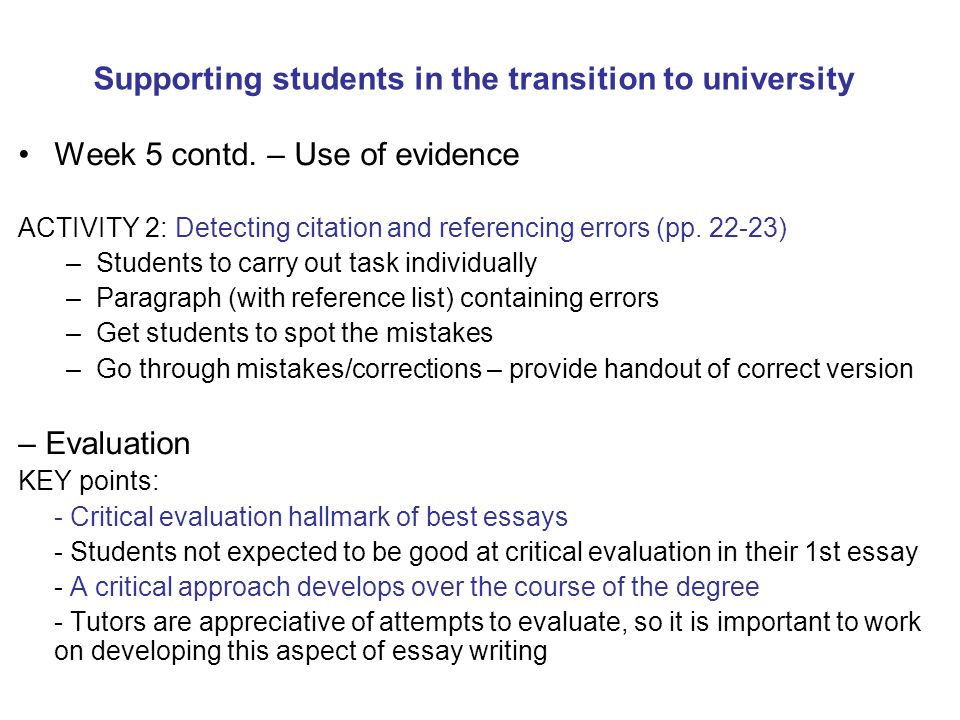 supporting students in the transition to university ppt  supporting students in the transition to university