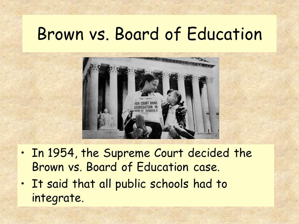 brown vs board of education case Civil rights icon linda brown, a 1961 central graduate, dies in topeka  board  of education of topeka case decided by the us supreme.