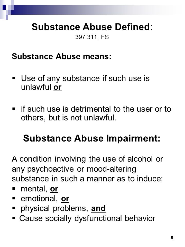 Marchman Act Florida's Substance Abuse Impairment Law - ppt download
