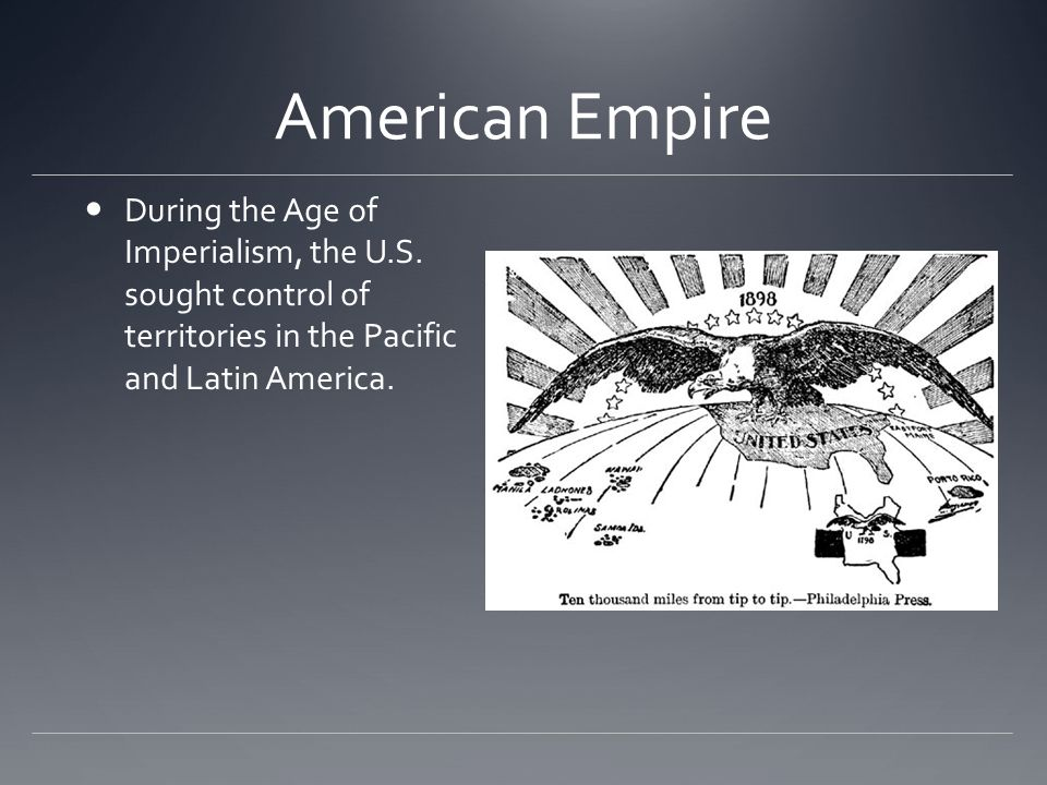 a history of the age of american imperialism Each of these factors contributed to the age of american imperialism—an era of   explores the origins, development, and eventual fall of the american empire.