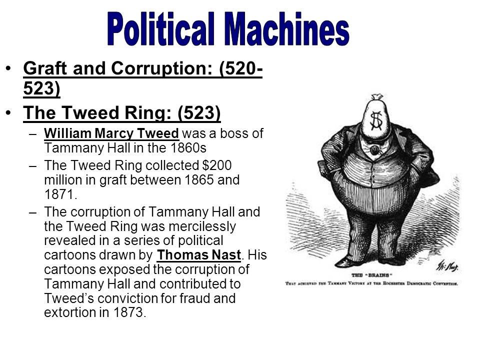 political machines Political machines offered immigrants employment, food, money and other basic necessities in the period around the mid-1800s, according to the city university of.