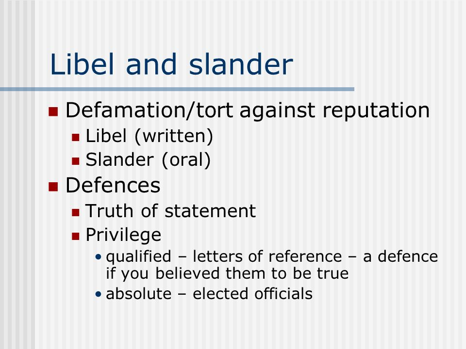 defamation tort law essay Defamation is a complex and detailed tort below i will present only an outline of the law, which will be further explained in class therefore, essential reading is as follows.