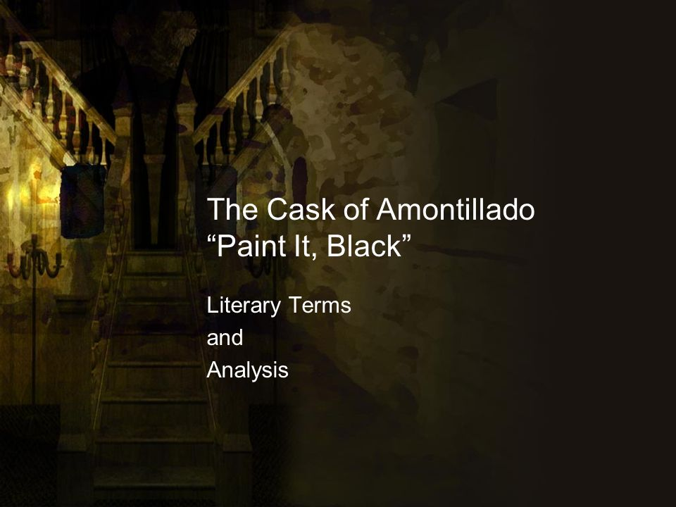 a literary analysis of irony in the cask of amontillado by edgar allan poe