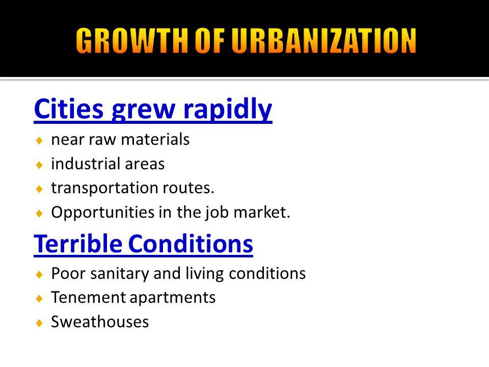 urban growth of cities essay